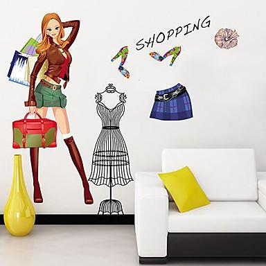 Createforlife ® Moda Ragazza Bambini Camera dei bambini Wall Sticker Wall Art decalcomanie del ...