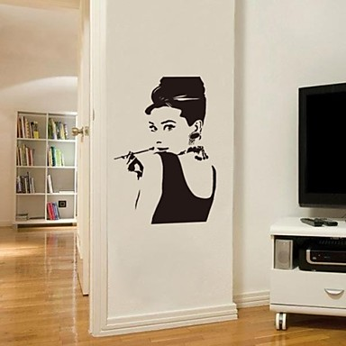 jiubai audrey hepburn wandaufkleber wandtattoos 1688587. Black Bedroom Furniture Sets. Home Design Ideas