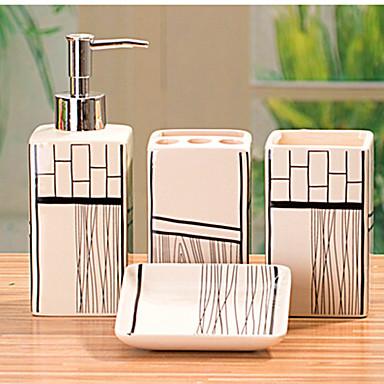 Accesorios para el ba o set 4 pieza rectangular de for Accesorios de bano de ceramica