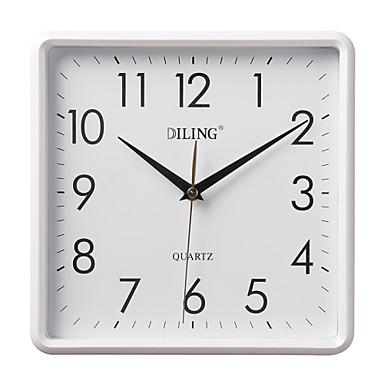 10 4 n meros rabes modernos cuadrados del reloj de pared del pvc del blanco 1668341 2017 - Relojes de cocina modernos ...