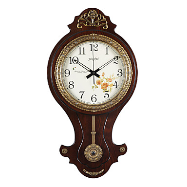 31 2 h country style floral novelty shaped wall clock - Country style wall clocks ...