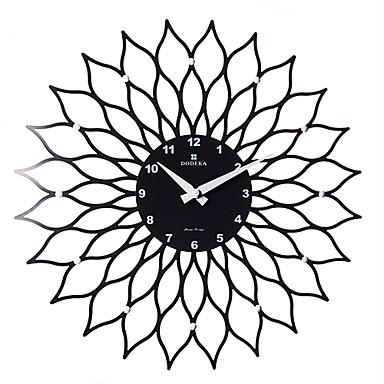 15 2 floral negro moderno reloj de pared pl stico 1635870 - Reloj de pared moderno ...