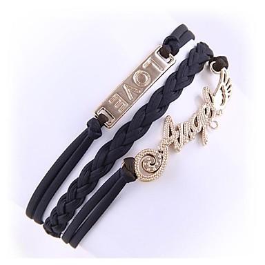 (1 Pc)Fashion 5.6cm Women's Leather Alloy Chain & Link Bracelet