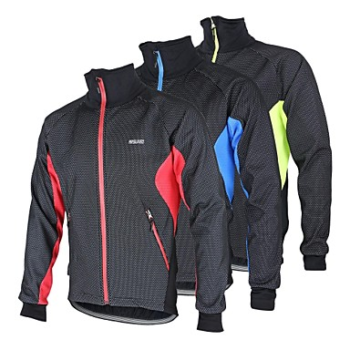 Arsuxeo Mens Thermal Fleece Cycling Jacket (Red, Blue, or Light Green)