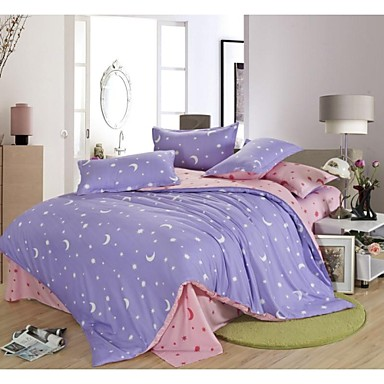 housse de couette de style contemporain et contract 4 pi ces violette. Black Bedroom Furniture Sets. Home Design Ideas