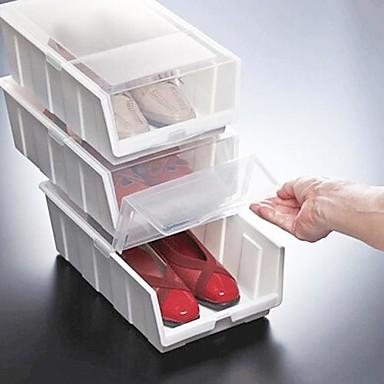 translucidit clapet bo tes de rangement de chaussures en plastique de couleur al atoire 34x21. Black Bedroom Furniture Sets. Home Design Ideas
