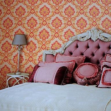 Pared de papel para paredes papel de pared de pvc flor - Papel decorativo para pared ...
