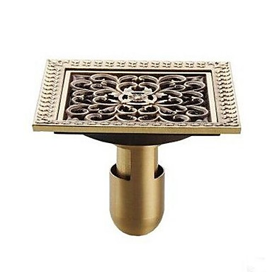 Buy Bathroom Accessory Antique Brass Finish Solid Floor Drain
