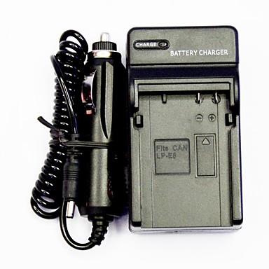 chargeur de batterie de l 39 appareil avec un chargeur de voiture pour canon lp e8 100v 240v de. Black Bedroom Furniture Sets. Home Design Ideas