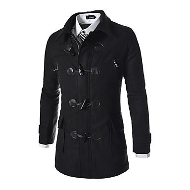 Buy X-MAN Men's Long Sleeve Tweed Coat