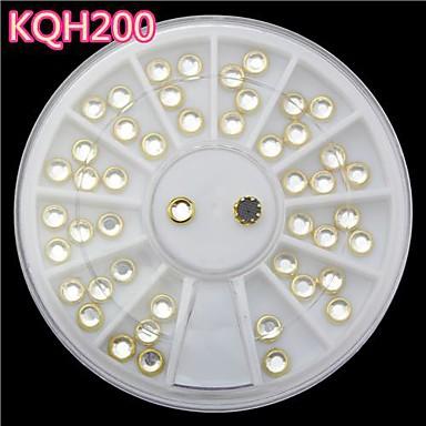 Nuevas u as color dorado perla de acr lico 3d u as de - Nuevas decoraciones de unas ...