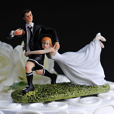 Cake Topper Non-personalized Funny & Reluctant / Sport Resin Wedding White / Black Classic Theme Gift Box
