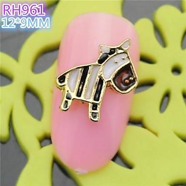 10st rh961 speciale ontwerp paard luxe strass 3d legering nail art diy nagel schoonheid nagel - Decoratie murale ontwerp salon ...