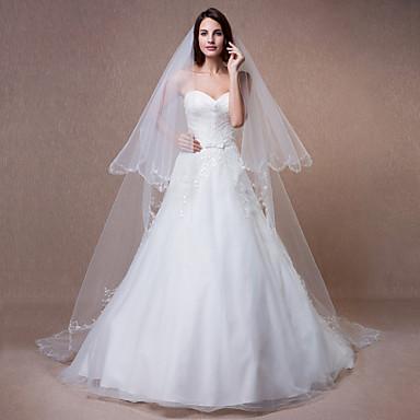 Wedding Veil Two Tier Chapel Veils Beaded Edge 4523331 2016 4499