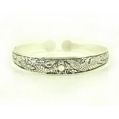 1PCS Fashion VintageTibetan Carved Silver Bracelet N0.4