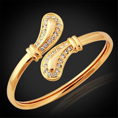 Buy U7® New Cute Austrian SWA Rhinestone 18K Gold Plated Cuff Bracelets Bangles Jewelry Women