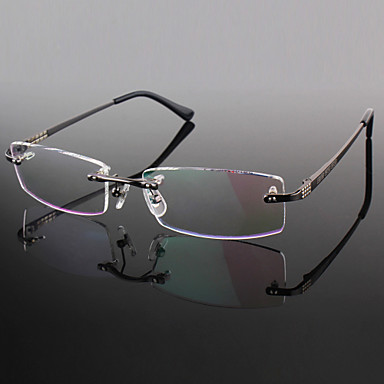Lenti liberi titanio rettangolo senza montatura occhiali for Occhiali in titanio da vista