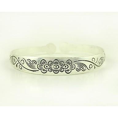 1PCS Fashion VintageTibetan Carved Silver Bracelet N0.1