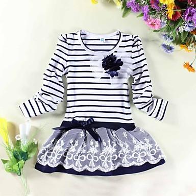 Girl's Fashion Stripe Flower Party Princess Cute Dresses