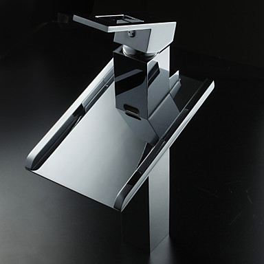 Sprinkle® Lightinthebox - Color Changing LED Waterfall Bathroom Sink Faucet (Tall)