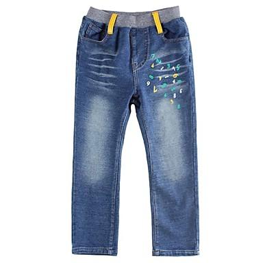 Boy's Cotton / Spandex / Denim Jeans,Winter / Fall / Spring Patchwork