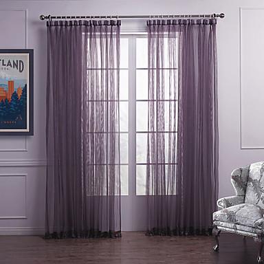 Modernos dos paneles s lidos dormitorio p rpura cortinas for Cortinas transparentes