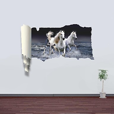 Animali romanticismo paesaggio adesivi murali adesivi 3d for Foto murali 3d