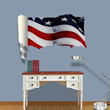 Buy 3D Wall Stickers Decals, American Flag Decor Vinyl