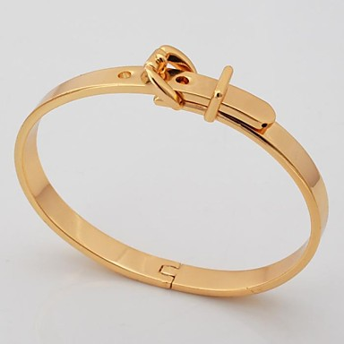 Buy U7® Cool Belt Bracelet 18K Gold Plated 2 Colors Chunky Bangle Men Fashion Jewelry