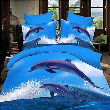 Buy Shuian®3D Dolphin Queen Size Bedding Sets Duvet Cover Bed Sheet Set Bag