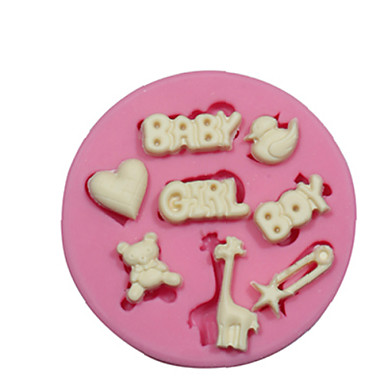 Buy Baby Boy Themed Silicone Mould Cake Decorating Mold Fondant Fimo Chocolate Candy