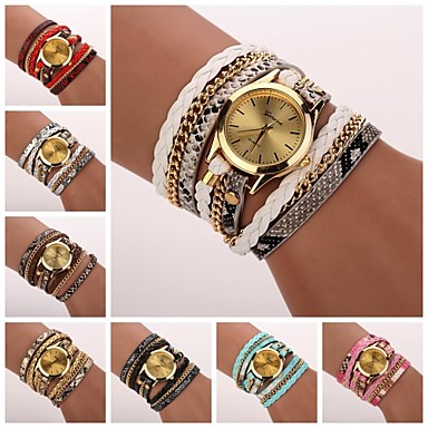 Women's Leopard Grain Woven Luxury Brand Quartz Wristwatch Watches C&D-120 Cool Watches Unique Watches Fashion Watch
