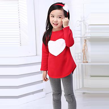 Girl's Summer/Spring/Fall Micro-elastic Medium Long Sleeve Clothing Sets (Cotton)