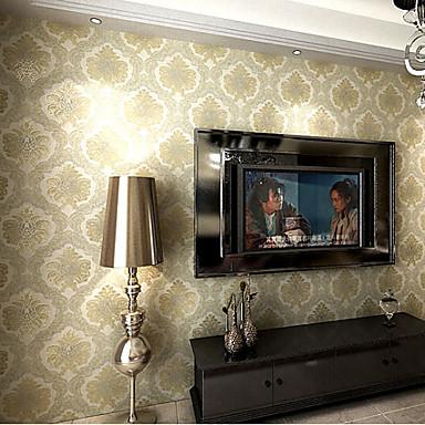 moderne tapete florale beige damast entwirft pr geendbearbeitung wandverkleidung pvc vinyl. Black Bedroom Furniture Sets. Home Design Ideas