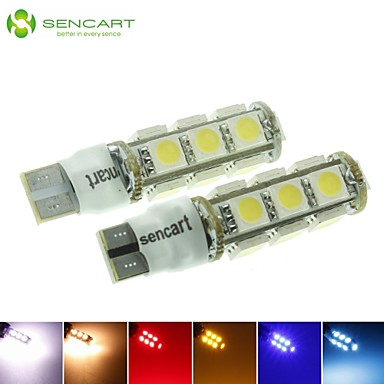 Buy T10 149 W5W 3.5W 2-Mode Blue/Red/Warm White/Green/Yellow/White 13X5050SMD LED 140LM Car Light Bulb (DC12-16V)