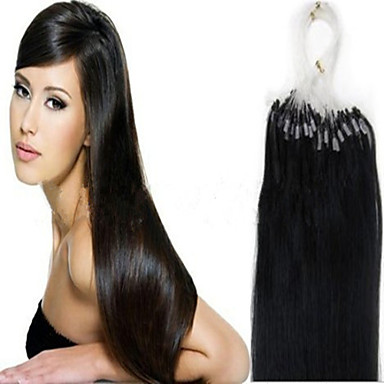 Buy 1pc/Lot 24Inch/60cm 100s/Pack 1g/s multicolors Straight micro ring hair Extension Grade5A Human Hair