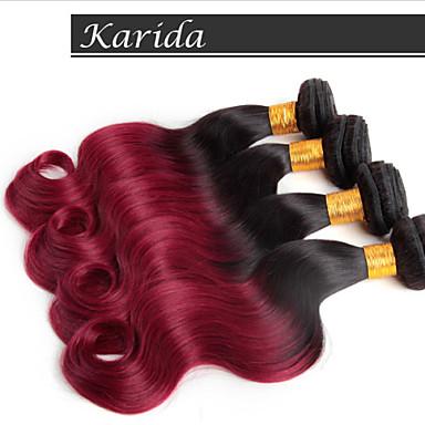 Buy 3 Pcs/Lot s Ombre Hair Weaves Color 1B/530# Body Wave , Unprocessed Virgin Brazilian Extension