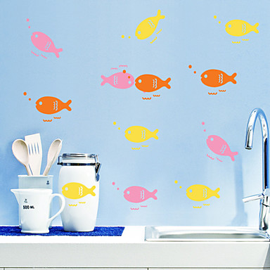Pegatinas de pared de estilo calcoman as de la pared la for Pegatinas de peces
