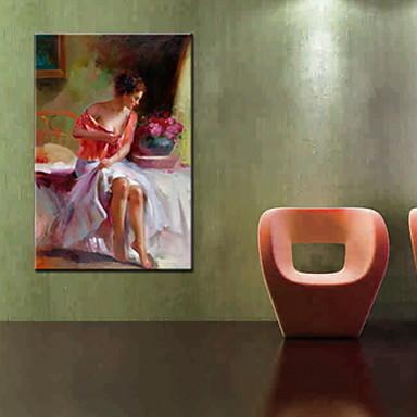pitture a olio un pannello gente moderna tele dipinte a mano pronta per essere appesa del ...