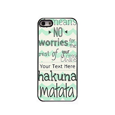 Buy Personalized Gift Hakuna Matata Design Aluminum Hard Case iPhone 5/5S