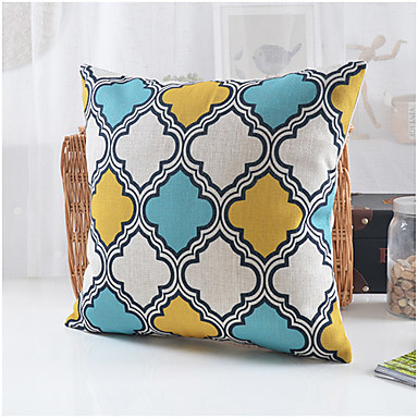 Patterns For Decorative Pillows Covers : Country Style Geometric Pattern Cotton/Linen Decorative Pillow Cover 3764995 2017 ? USD14.99