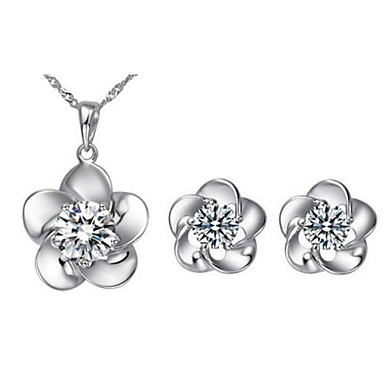 Buy Z&X® Alloy Europe Rhinestone Flower Jewelry Set Party/Daily 1set(Including Necklaces/Earrings)