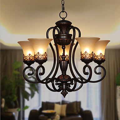 Max 60w vintage country island painting metal for Dining room light fixtures canada