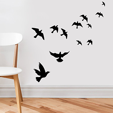 Animals wall stickers plane wall stickers decorative wall for Bird wall mural