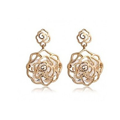 """""""New Arrival Hot Selling High Quality Hollow Rose Earrings"""""""