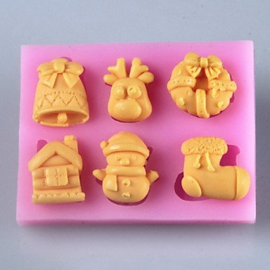 Christmas Cake Decoration Molds : Christmas Products Fondant Cake Chocolate Silicone Mold ...