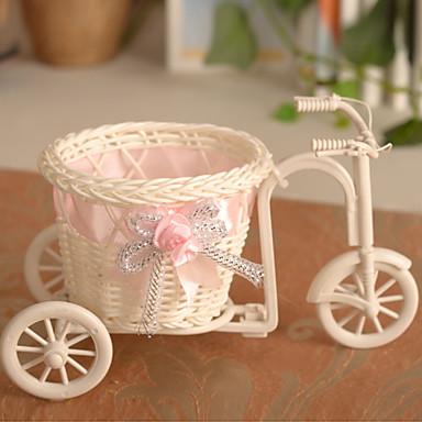 Estilo bicicleta cesta de flores flores artificiales - Plantas artificiales para decorar ...
