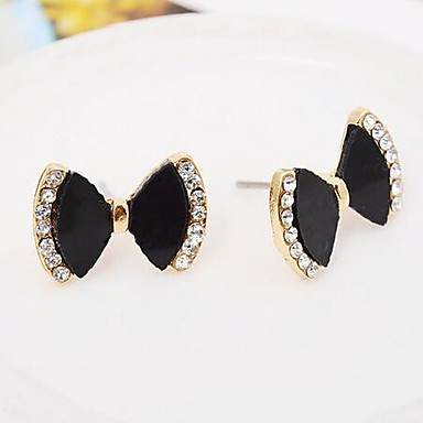 """New Arrival Hot Selling High Quality Rhinestone Bow Earrings"""