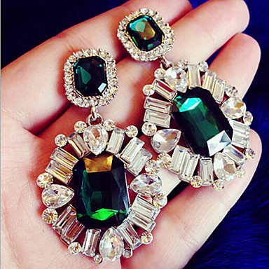 """""""New Arrival Hot Selling High Quality Exaggerated Crystal Gem Earrings&q..."""