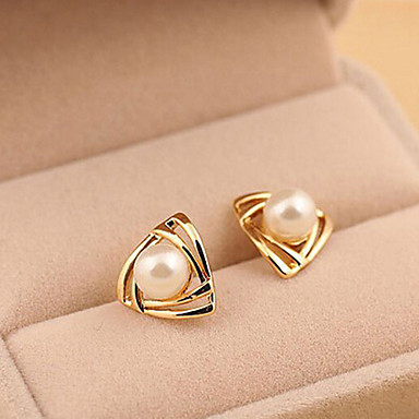 """""""New Arrival Hot Selling High Quality Fashional Triangle Pearl Earrings ..."""